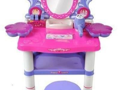 Laste peeglilaud meigilaud ja tool