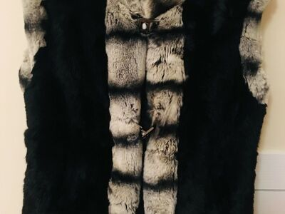 Naturaalne jänese karvane vest. Suurus M