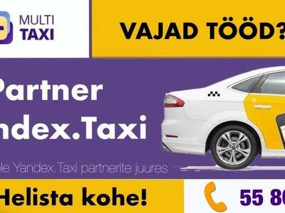 Yandex Taxi partner kutsub tööle (MultiTaxi)