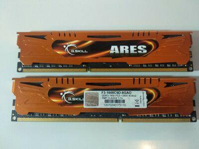 G.Skill ARES 8GB(2x4GB) DDR3 1600MHz mälud