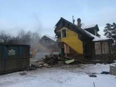 Vanade hoonete, majade, suvilate lammutamine
