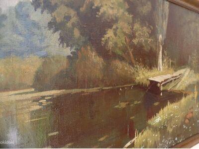 """Maal """"Kinnikasvanud tiik"""" V.Polenovi,  vana koopia"""