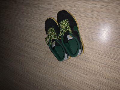 Nike green/yellow shoes
