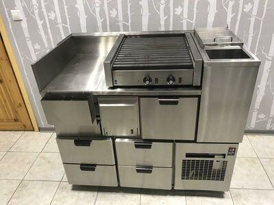 Hot-Dogi jaam-külmtöölaud , rullgrill