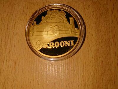 Eesti 2 kroonise mündi kullatud koopia, 1930a