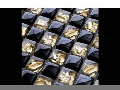 Klaasmosaiik Gold-Black Crystal Mix